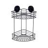 Naleon Instaloc Black 2 Tier Corner Basket