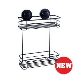 Instaloc Black 2 Tier Rectangular Basket