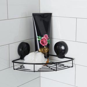 Ultraloc Black Corner Basket Insitu Hi Res