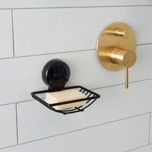 Ultraloc Black Soap Dish Insitu HiRes
