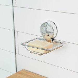 Ultraloc Chrome Soap Dish insitu Hi Res